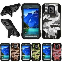 For Samsung Galaxy S5 Active| Hybrid Hard Bumper Stand Case