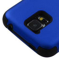 for Samsung Galaxy S5 BLUE / BLACK Dual Layer Hard&Soft Rubb