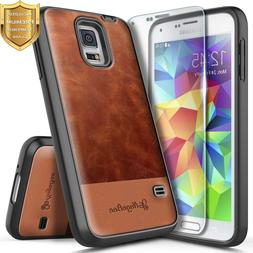 Samsung Galaxy S5 Case | NageBee® Leather Shockproof Cover