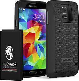 PowerBear Samsung Galaxy S5 Extended Battery  & Back Cover &