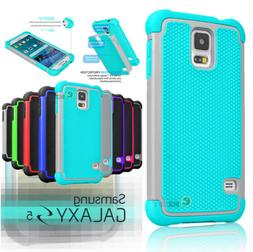 For Samsung Galaxy S5 i9600 Hybrid Shockproof Rubber Protect