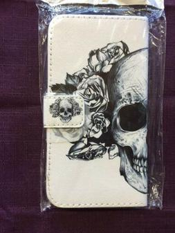 Samsung Galaxy S5 Wallet Case Credit Card/ID Skulls And Rose