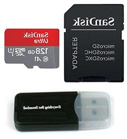 SanDisk 128GB Ultra Micro SD SDXC UHS-I Class 10 works with