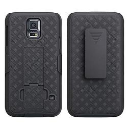 GALAXY WIRELESS for Samsung Galaxy S5 Case, Black Swivel Sli