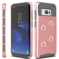 For Samsung S5 S6 S7 Edge S8 + Dual Shockproof Hard Case Cov