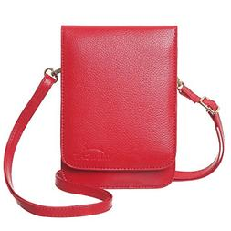 touch screen design leather mini crossbody cell