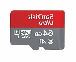 SanDisk Ultra microSDXC UHS-I with Adapter - 64GB - SDSQUNC-