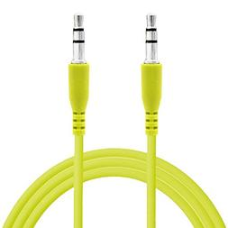 Universal Green Color 3.5mm Auxiliary Stereo Mini Port Aux A
