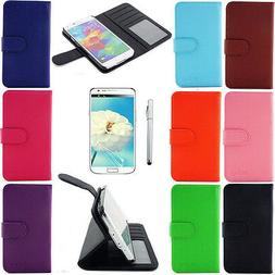 Wallet Card Case PU Leather Flip Stand Hard Cover for Samsun
